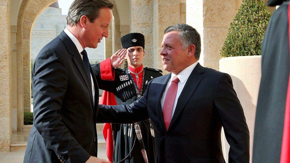 David Cameron and Jordan's King Abdullah