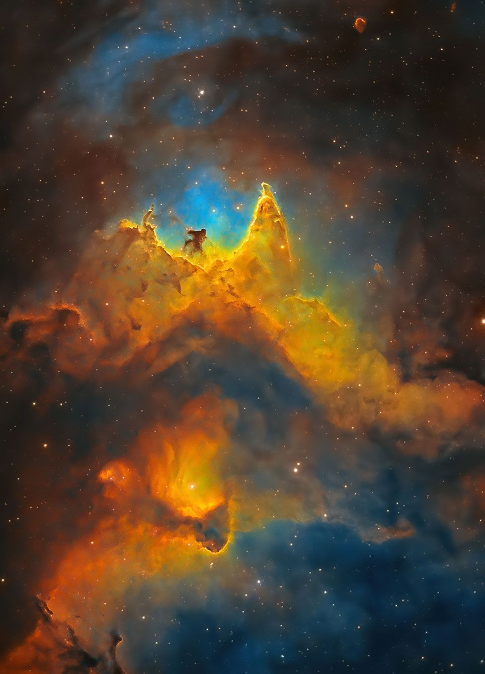 An astronomy image of the Soul Nebula