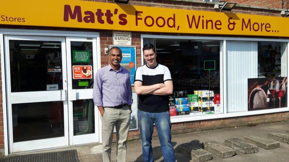 John Augustine (left) and manager Lee Button outside their Barrow store