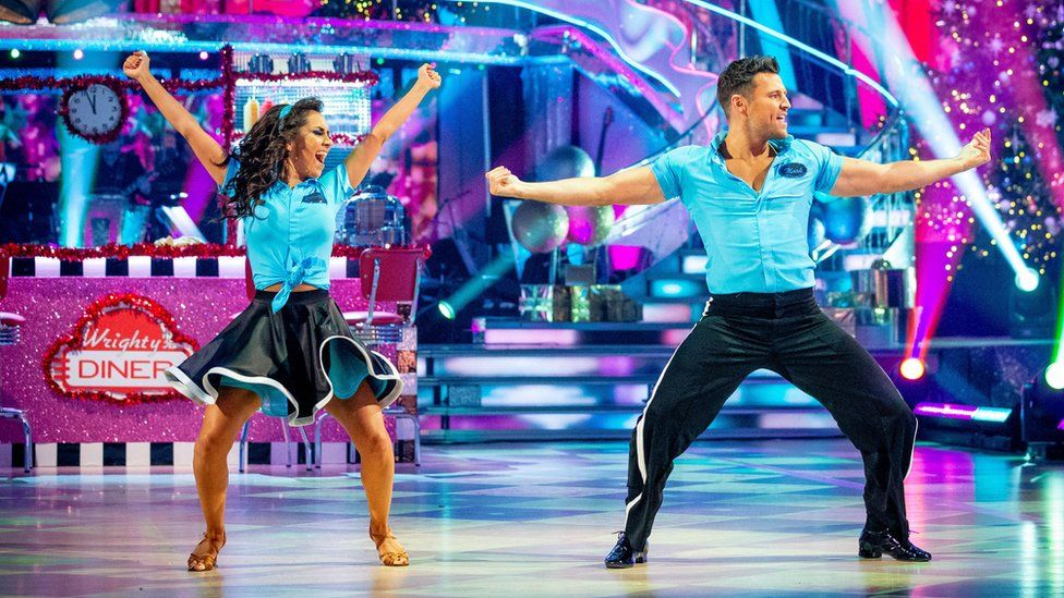 Janette Manrara and Mark Wright on the dance floor