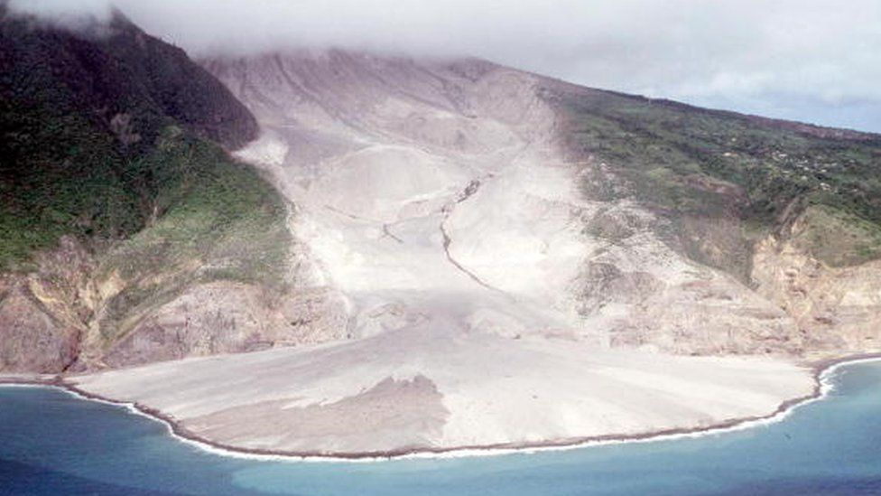 The Soufriere Hills volcano on the Caribbean island of Montserrat