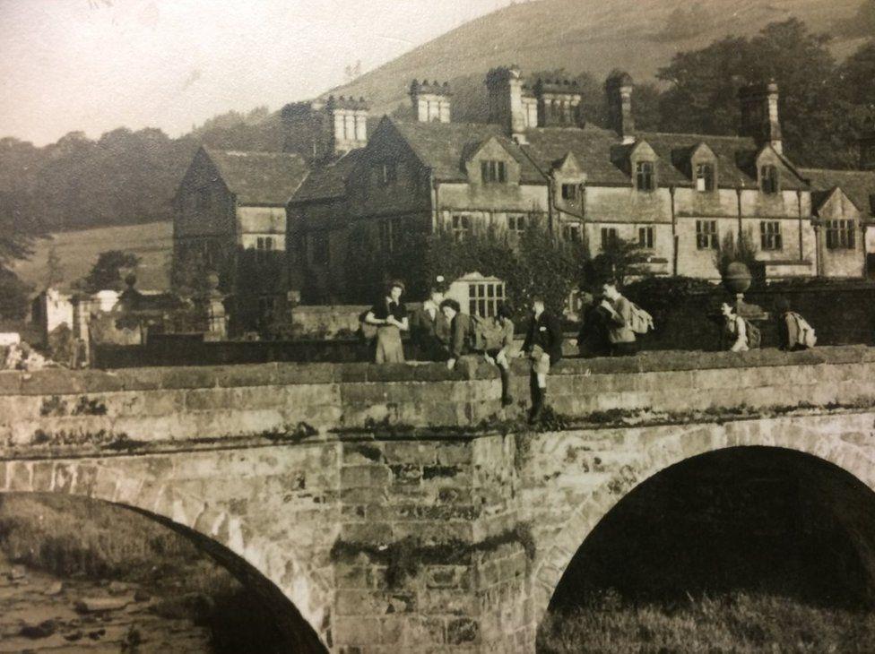 Young people gather at Ouzeldon Bridge