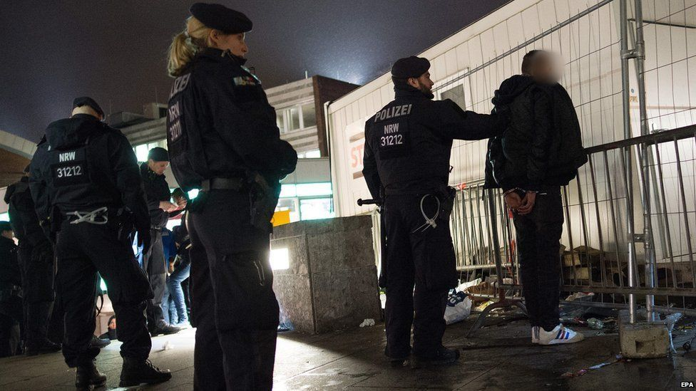 Police intervened and made arrests on the night