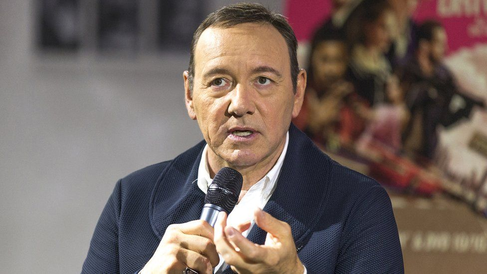 Kevin Spacey at October press event for Baby Driver