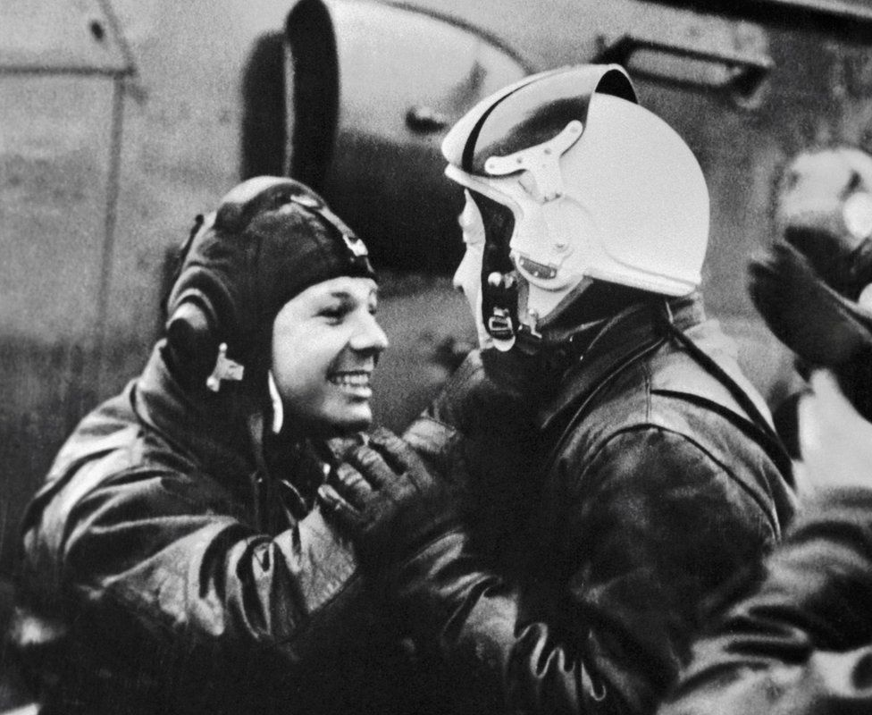 Gagarin and Leonov