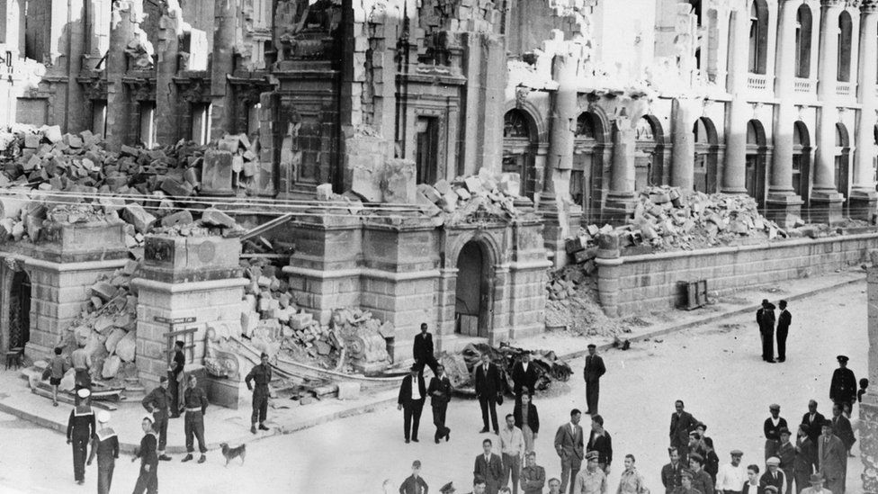 Bomb damage during the Second World War
