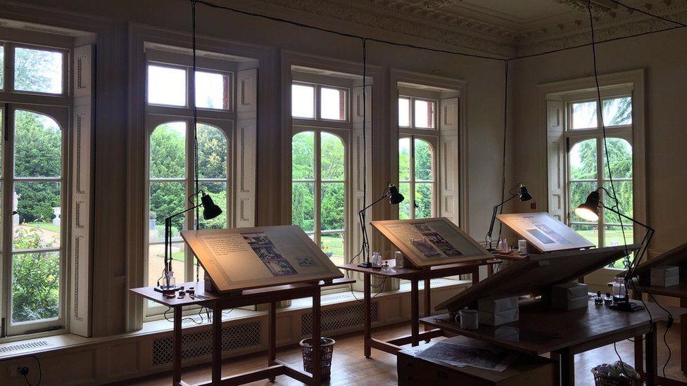 Hughenden Manor map exhibition
