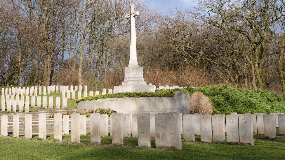 Old Garrison Cemetery in Poland