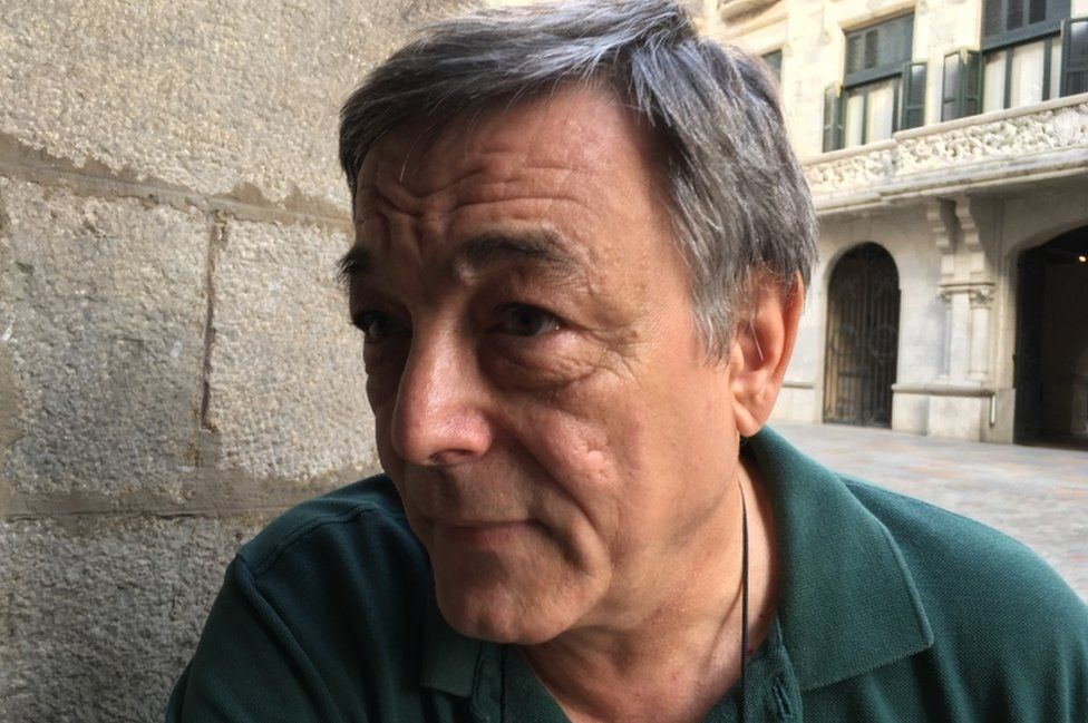 A picture of Joan Matamala, taken on the street in Girona, 4 October 2017