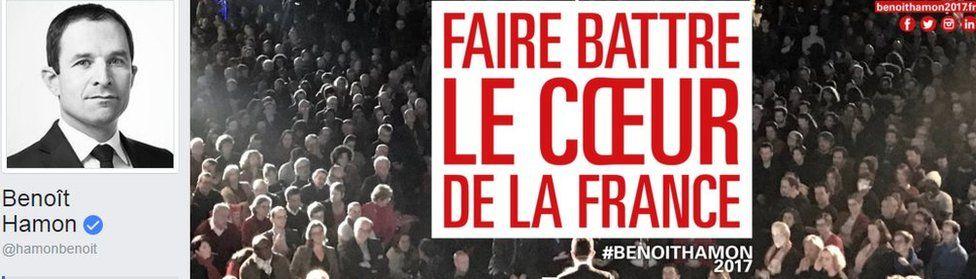 Benoit Hamon's campaign page on Facebook