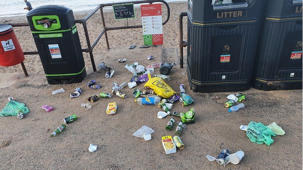 Litter at Exmouth