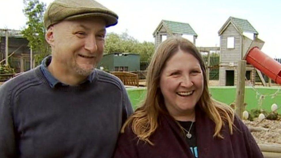 Dean and Tracy Tweedy, owners of Borth Wild Animal Kingdom