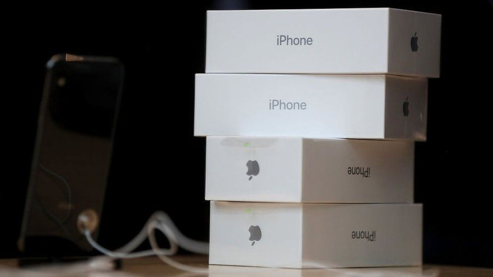 Apple iPhone boxes