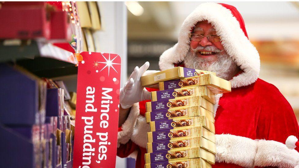 Father Christmas at Sainsbury's