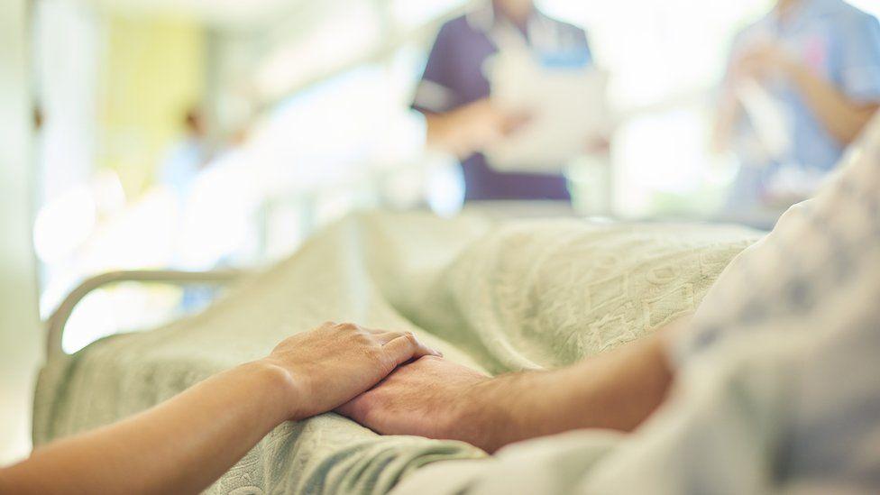elderly person in hospital