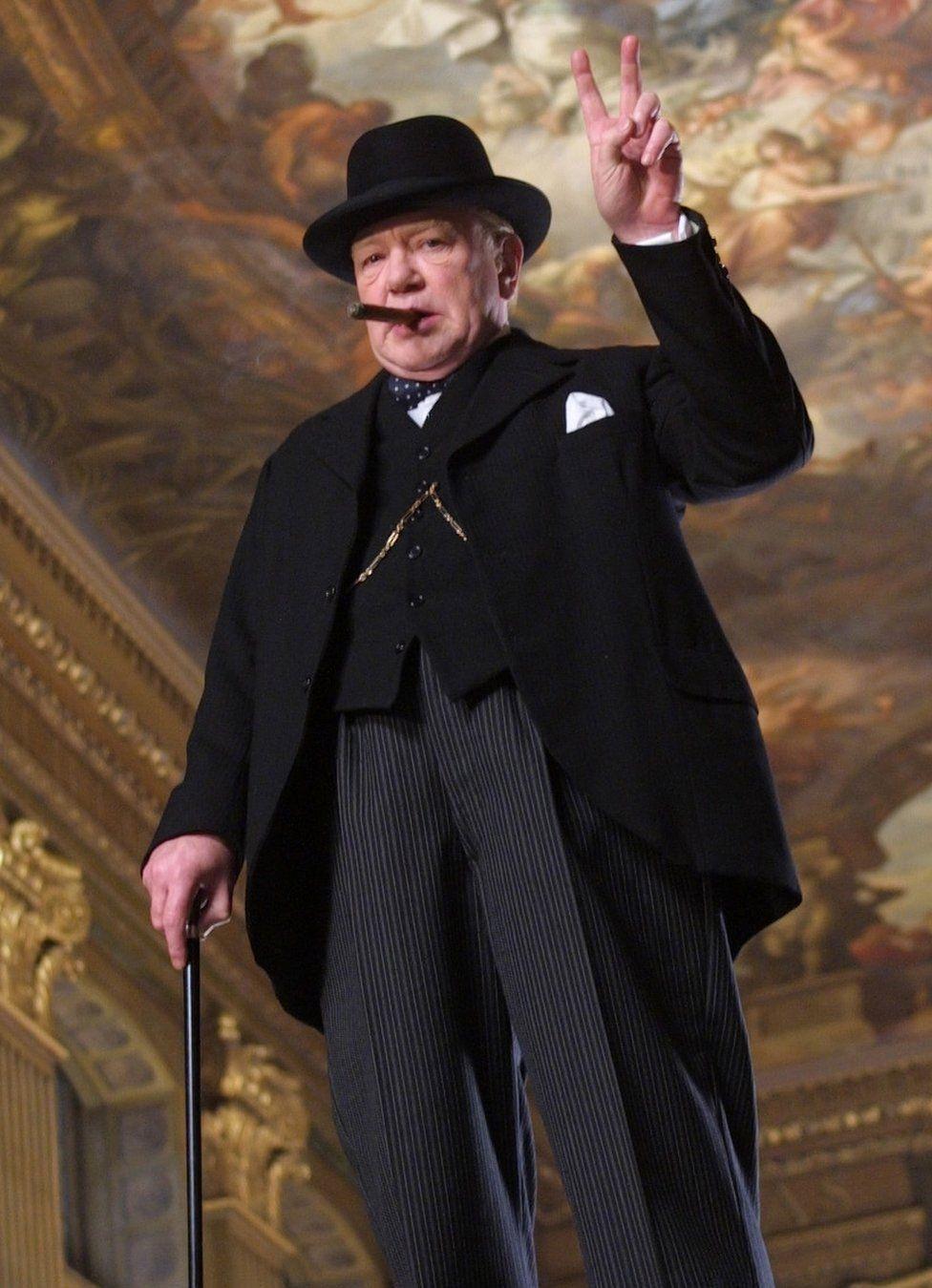 Albert Finney as Winston Churchill