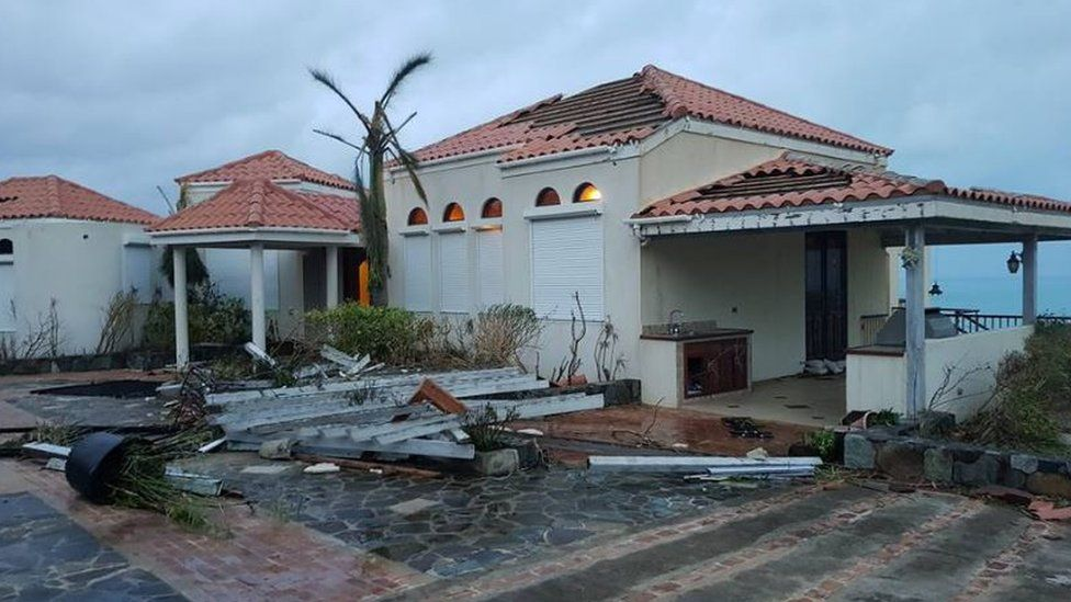 House hit by Hurricane Irma