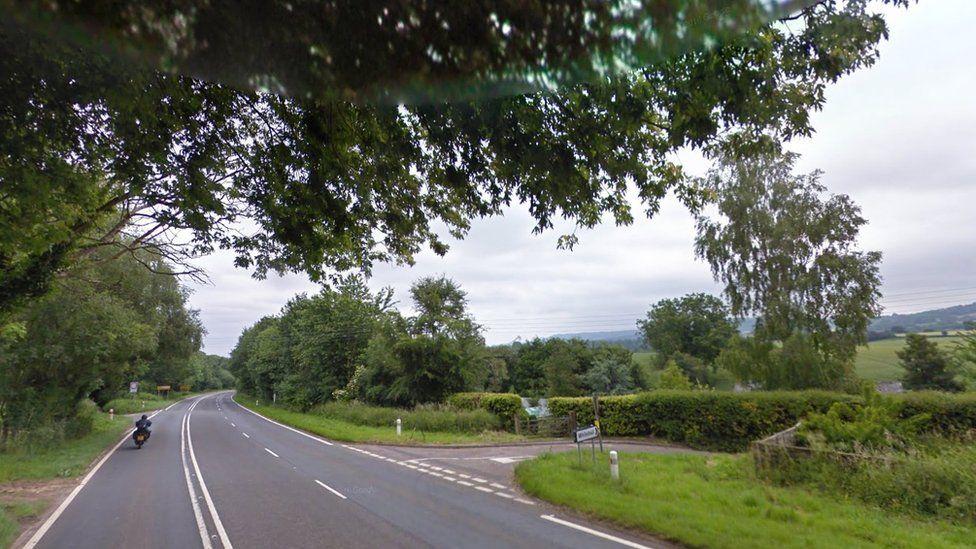 A38 near White Ball, Somerset