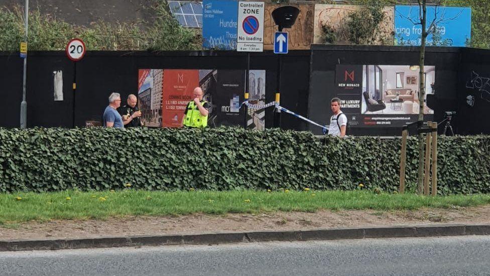 The scene on Bristol Road