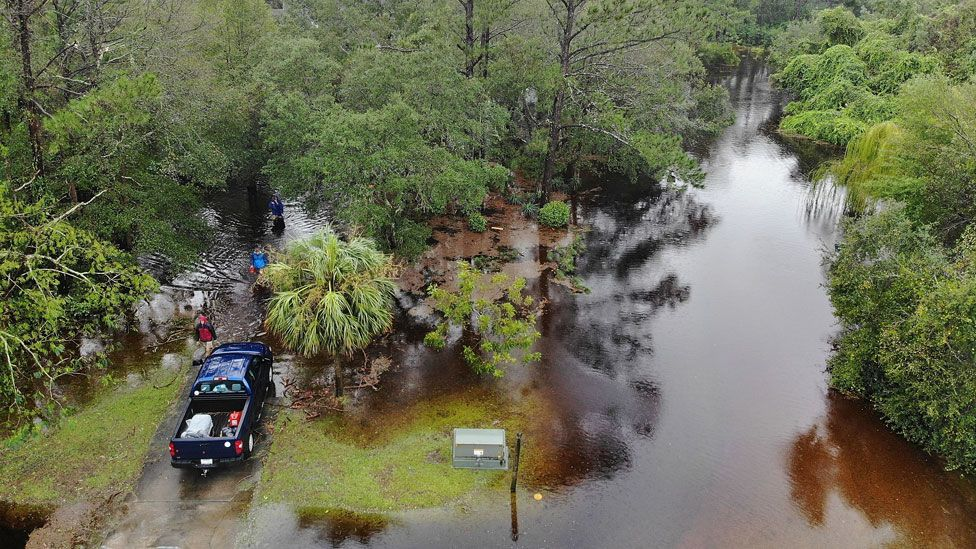 Flooding in Southport, N Carolina