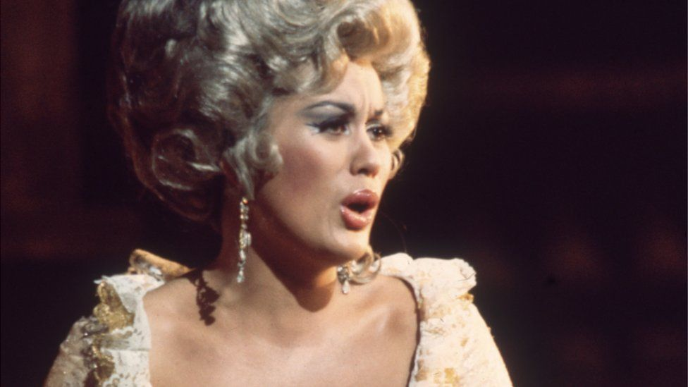 Dame Kiri Te Kanawa as the Countess in The Marriage of Figaro at the Royal Opera House, circa 1972