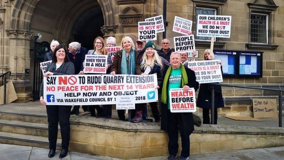 Members of Residents Against Rudd Quarry Extension