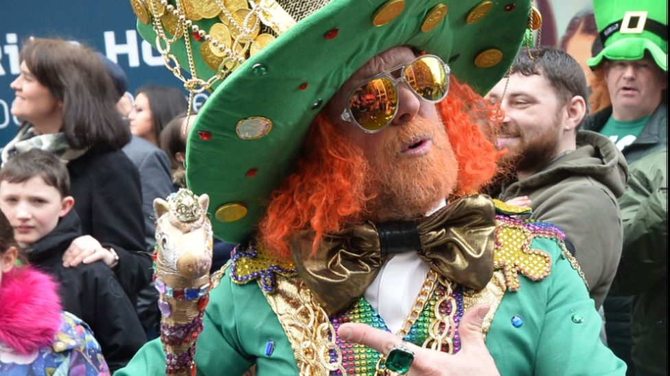 There were many colourful characters in Belfast's well attended parade