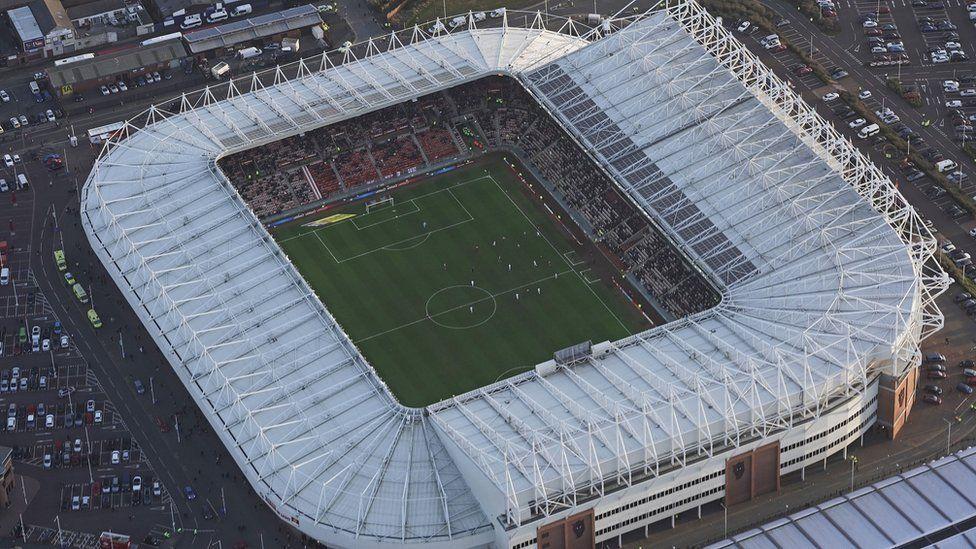 Sunderland Stadium of Light, pictured from above