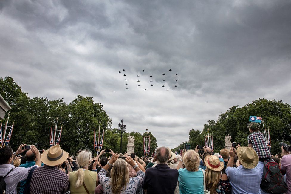 Royal Air Force 100 flypast to mark the RAF's centenary