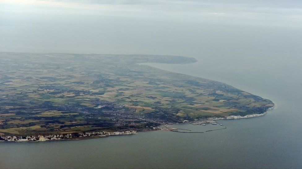 Aerial view of Dover port