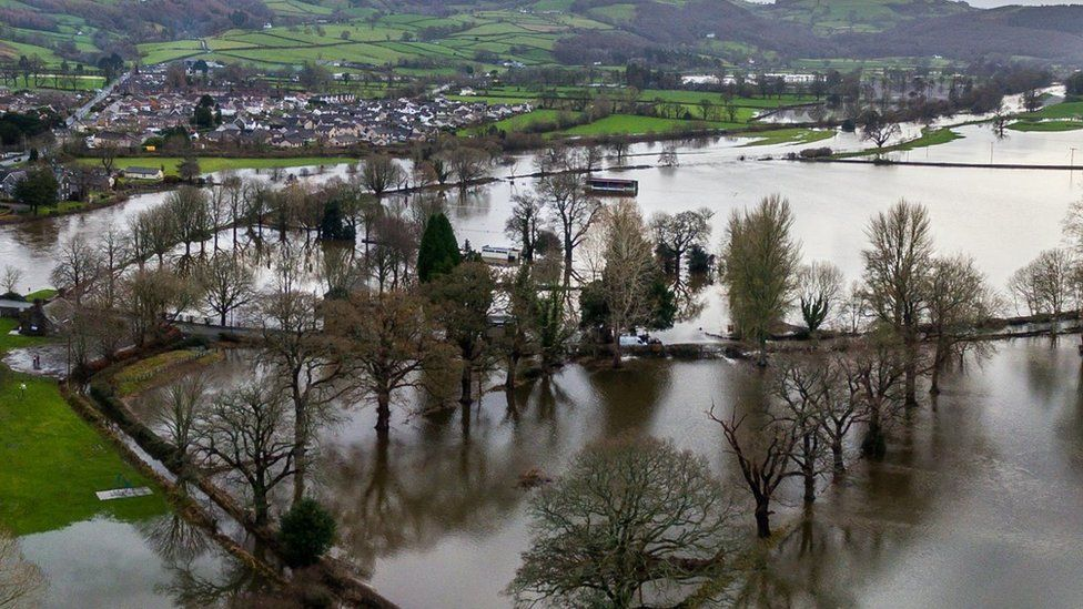 Flooding in Conwy Valley