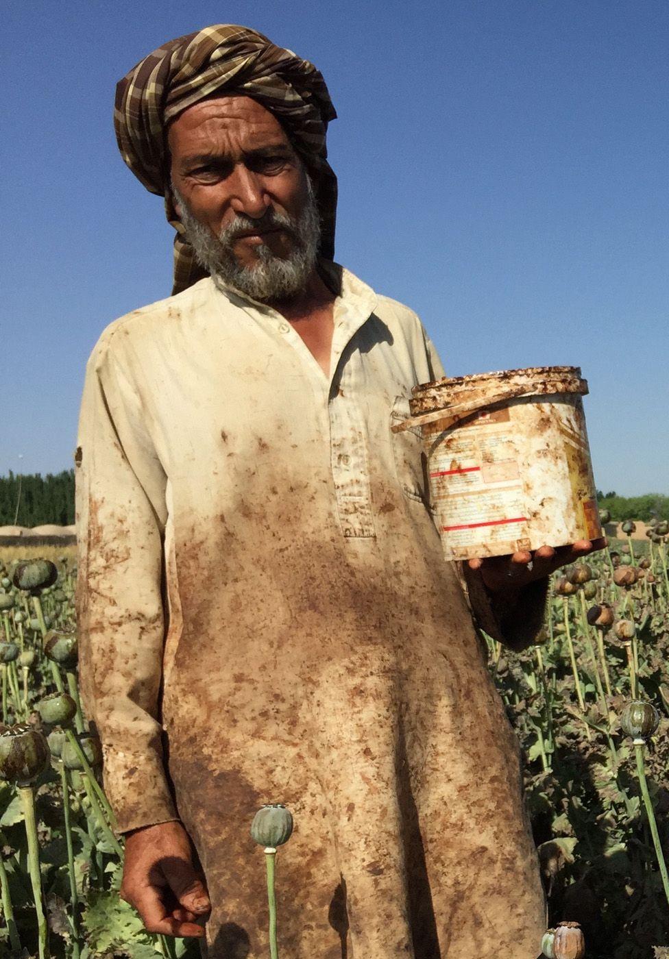 An opium farmer