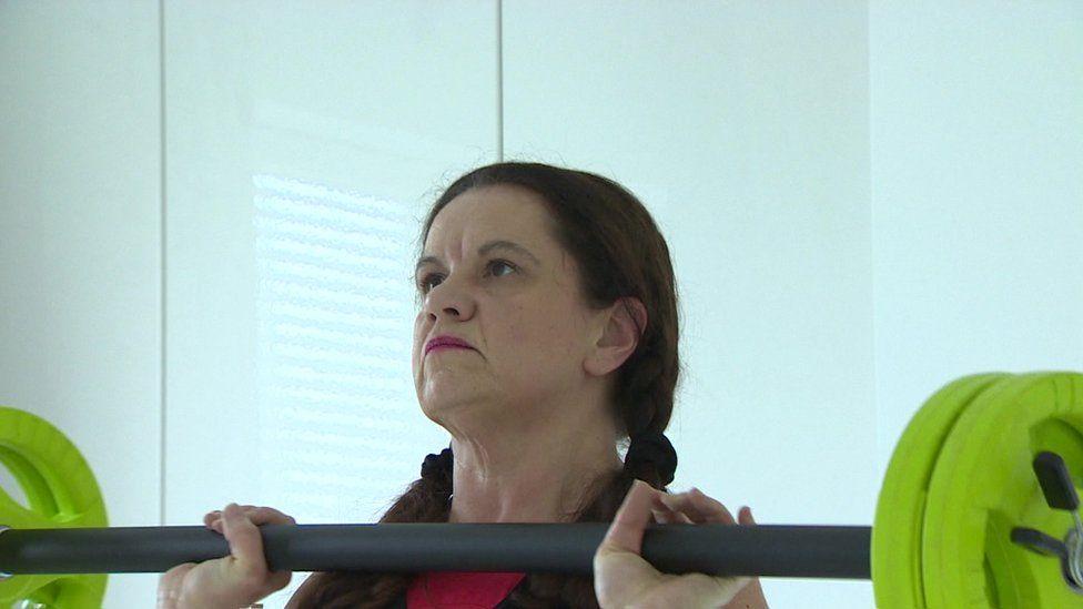 Frances Carroll weightlifting
