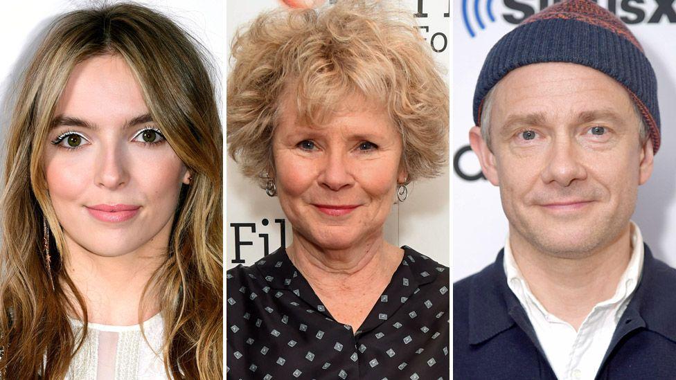 Jodie Comer, Dame Imelda Staunton and Martin Freeman