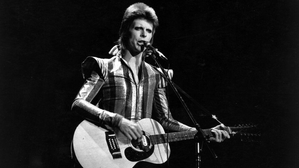 David Bowie performs his final concert as Ziggy Stardust at the Hammersmith Odeon, London. The concert later became known as the Retirement Gig (1973)