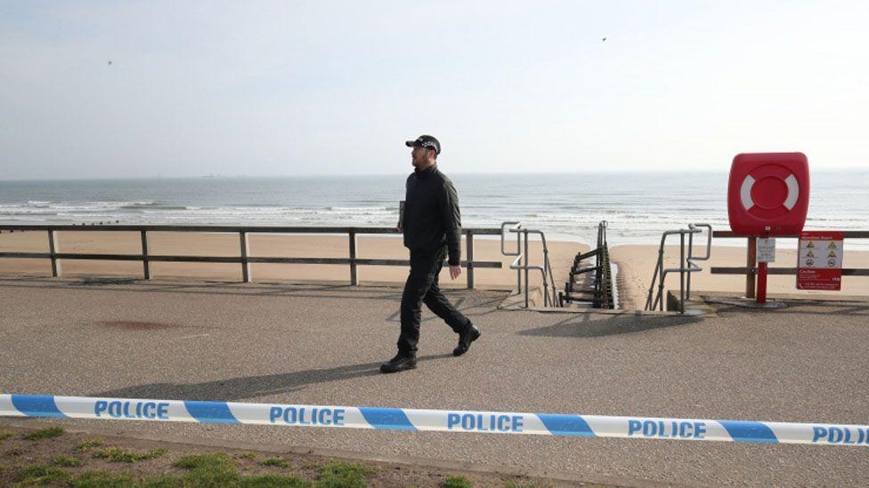 Police at Aberdeen beach