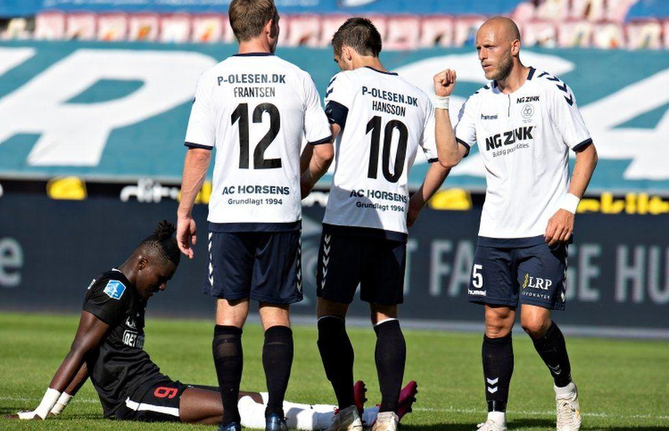 Denmark's Superliga football championship has resumed behind closed doors