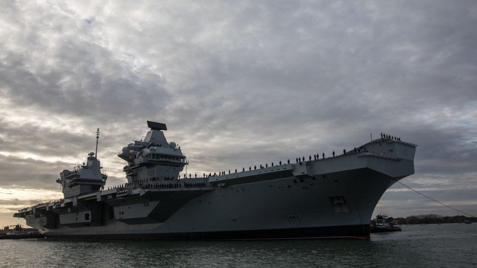 Warship positions faked including UK aircraft carrier thumbnail