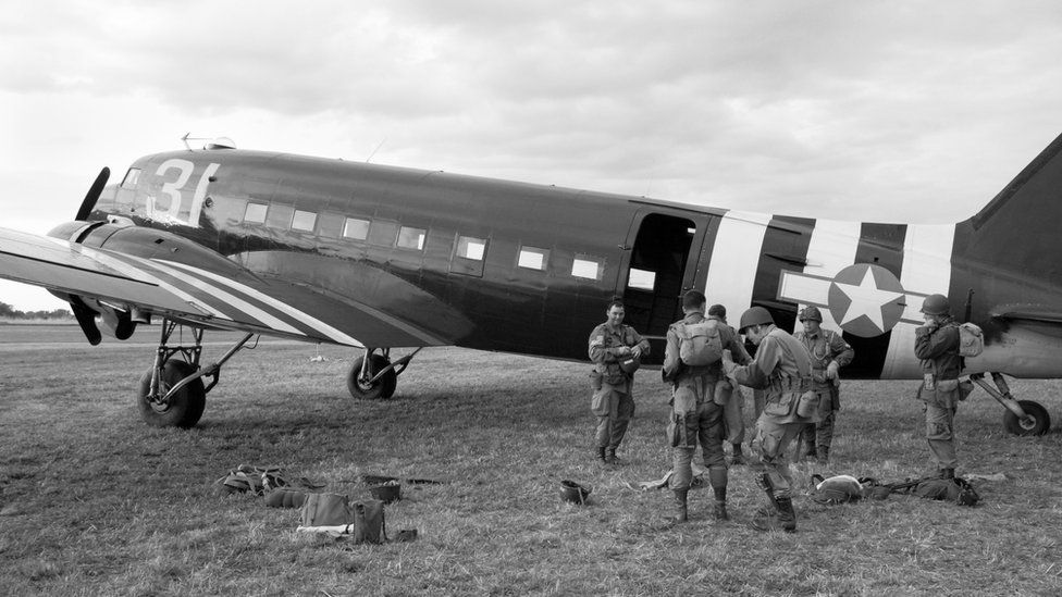 D-Day Paratroopers getting ready to jump