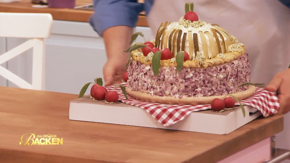 A cake made of meat