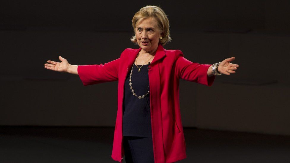 Hillary Clinton ,shown in Mexico City in 2014