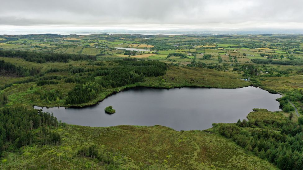 Lough Colmcille in Co Donegal - the lake was searched by divers in 1977