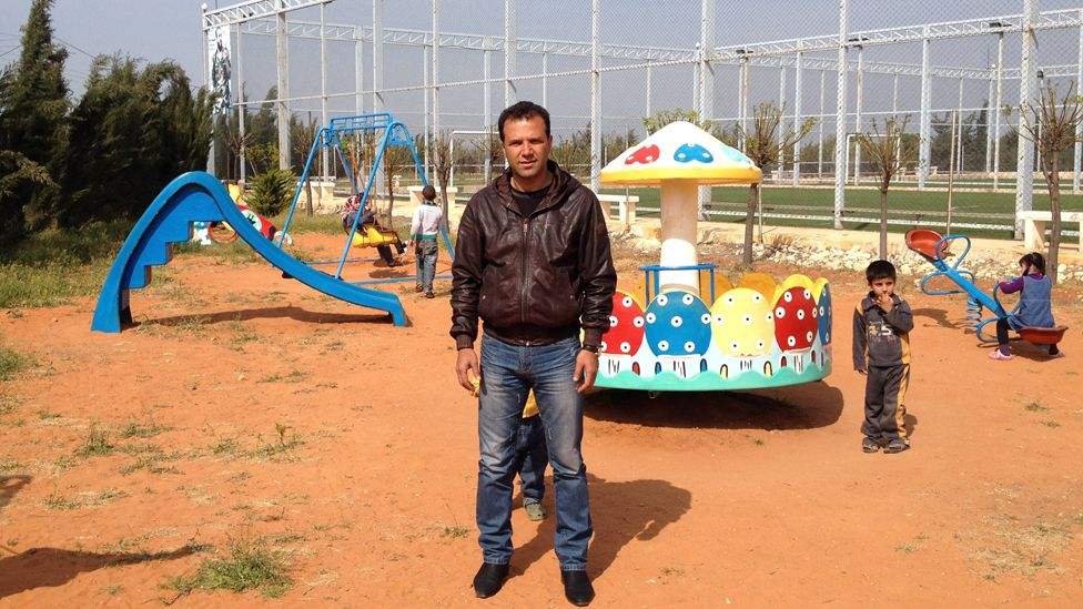 Raed al-Najjar in Marea by the sports ground