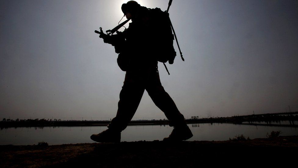 British soldier in Al Qurnah, Iraq, in 2009