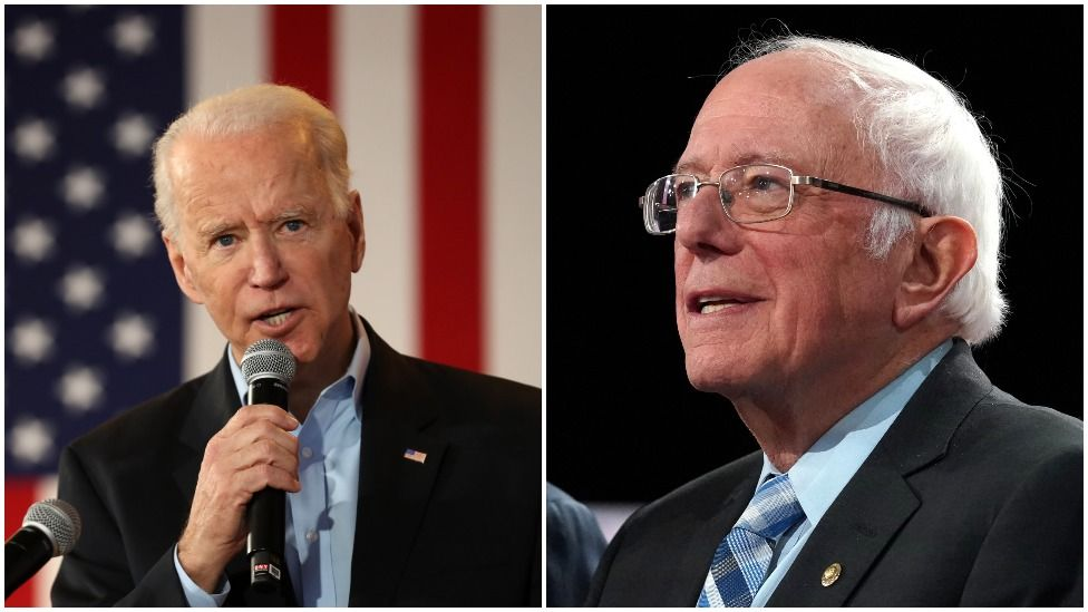 Joe Biden and Bernie Sanders are among the Democrats' candidates