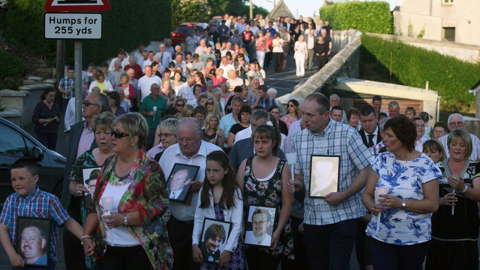 Relatives remembered their loved ones on the 20th anniversary of the atrocity in 2014