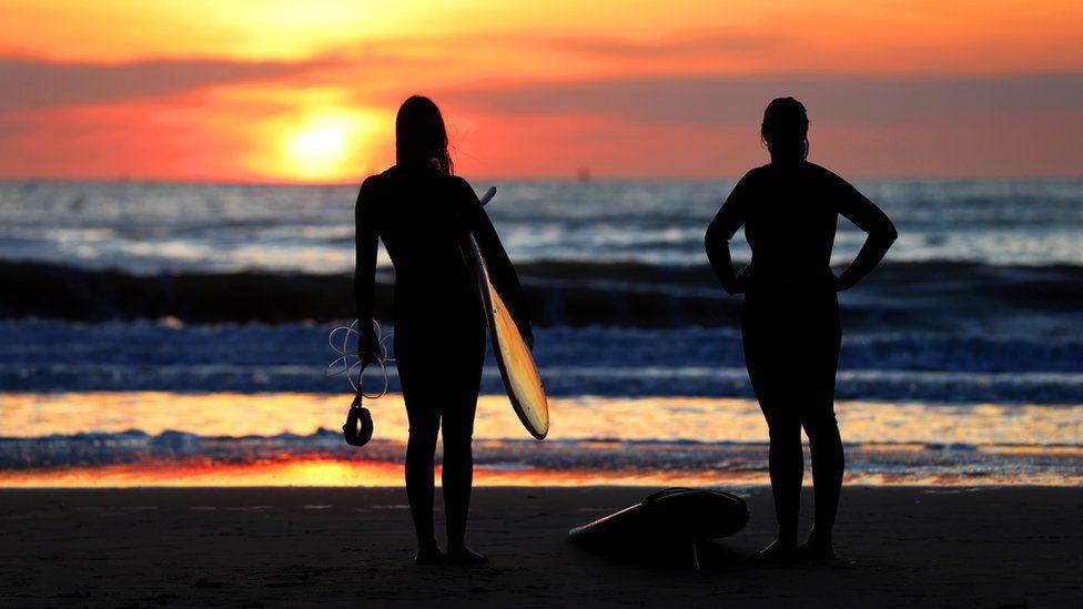 Surfers at Scheveningen