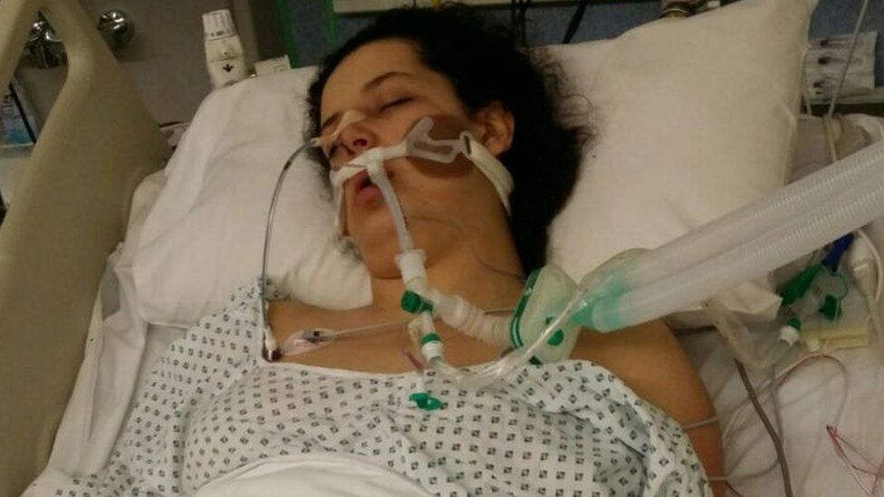Mariam Moustafa in hospital