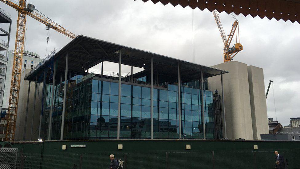 BBC Building under construction