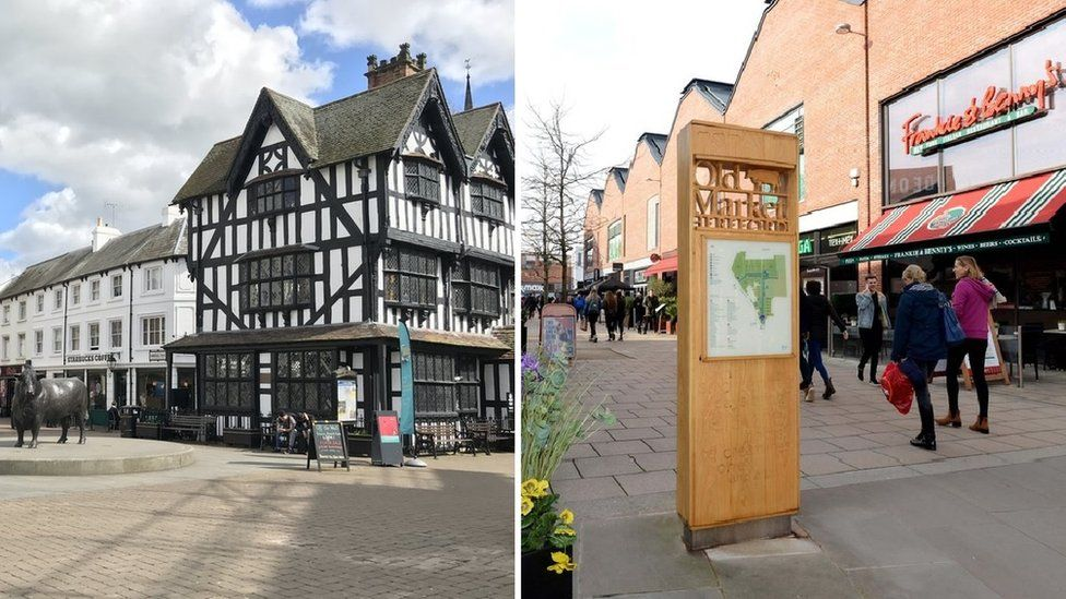 Hereford High Town and Old Market